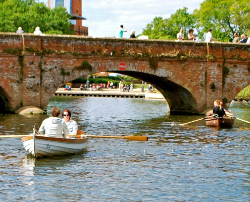 Playing about on the river avon at Stratford upon Avon
