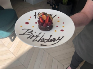 Happy Birthday cake at Burnside Hotel